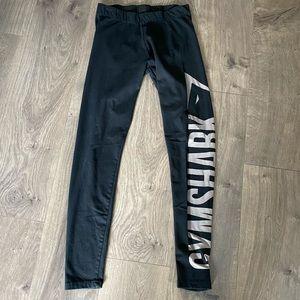 Gymshark Black and Gold Spell Out Leggings